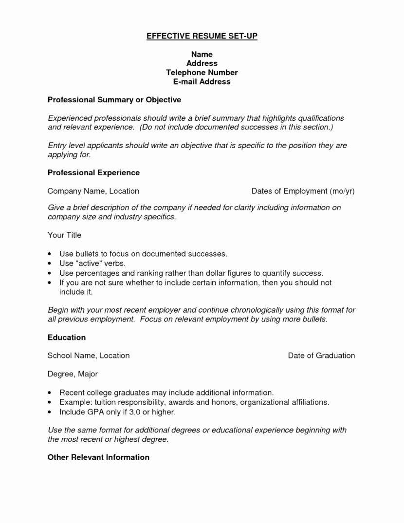 Resume Setup On Microsoft Word Awesome Impressive Resume Setup 12 Template Ideal for someone with