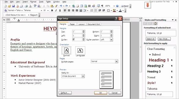 Resume Setup On Microsoft Word Elegant How to Create A Professional Resume Using Microsoft Word