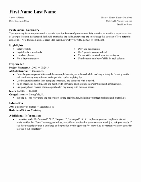 Resume Setup On Microsoft Word Fresh 12 top Professional Cv Examples & Cv Templates