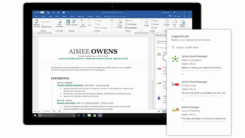 Resume Setup On Microsoft Word Fresh Linkedin Powered Resume assistant for Fice 365 now
