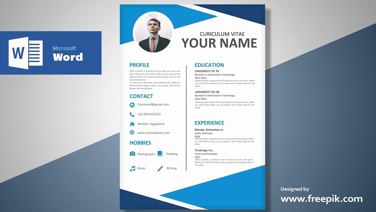 Resume Setup On Microsoft Word Unique Awesome Blue Resume Design Tutorial In Microsoft Word