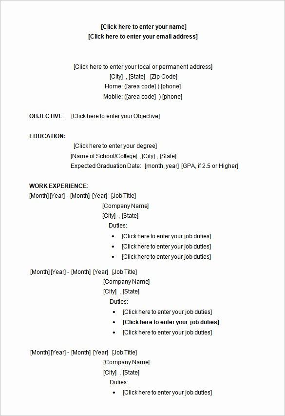 Resume Template Download Microsoft Word Best Of 34 Microsoft Resume Templates Doc Pdf