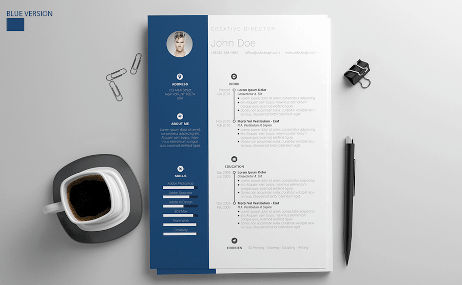 Resume Template Download Microsoft Word New 65 Eye Catching Cv Templates for Ms Word