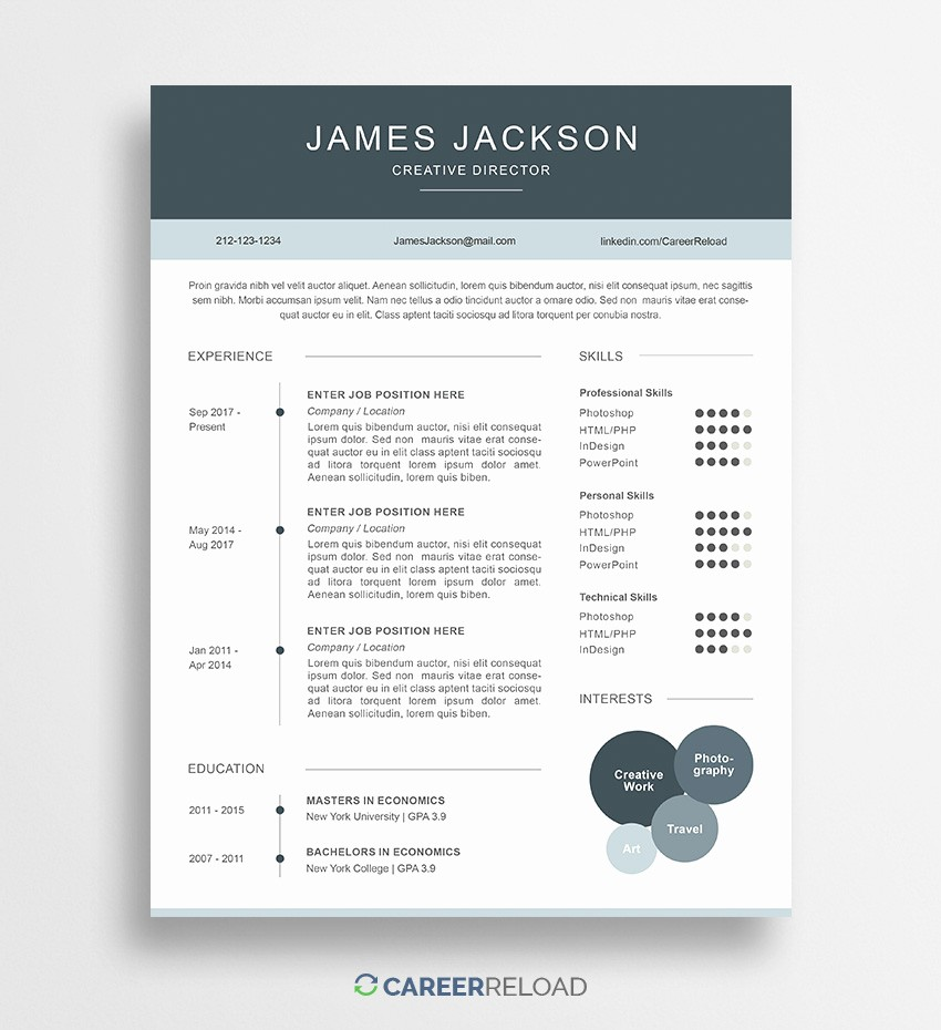 Resume Template Download Word Free Beautiful Freeume Templates with Picture Template Option
