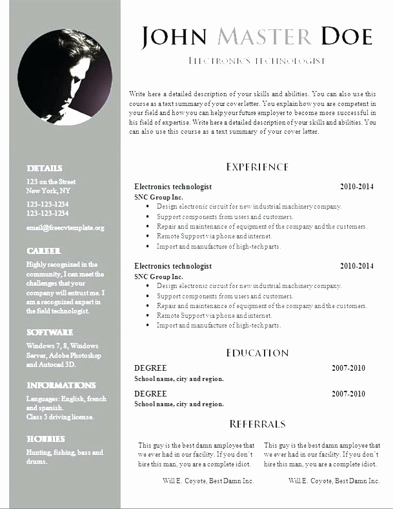 Resume Template Download Word Free Lovely Graphic Design Resume Template Free Download Ideas