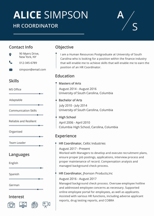 Resume Template Download Word Free Luxury Hr Resume format Template 9 Free Word Pdf format