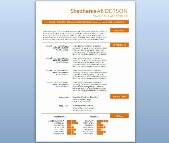 Resume Template for Microsoft Word Elegant Modern Microsoft Word Resume Template Stephanie by Inkpower