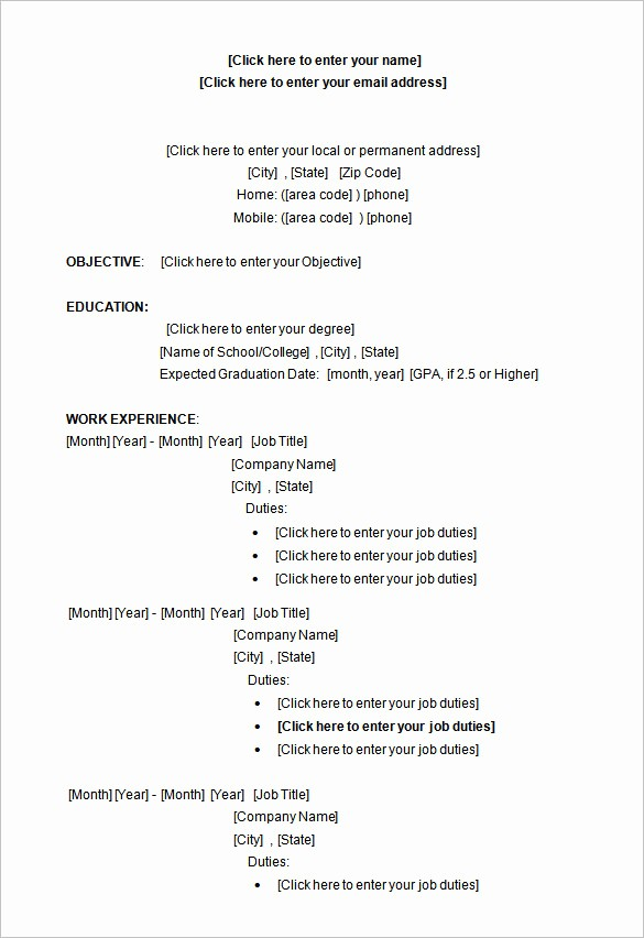 Resume Template for Microsoft Word Lovely 34 Microsoft Resume Templates Doc Pdf