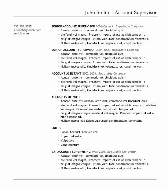 Resume Template for Microsoft Word Lovely 7 Free Resume Templates