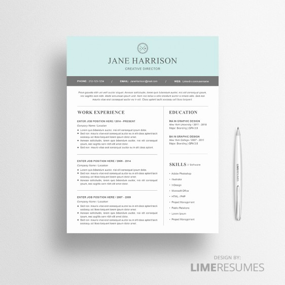 Resume Template for Microsoft Word Unique Modern Resume Template for Microsoft Word Limeresumes