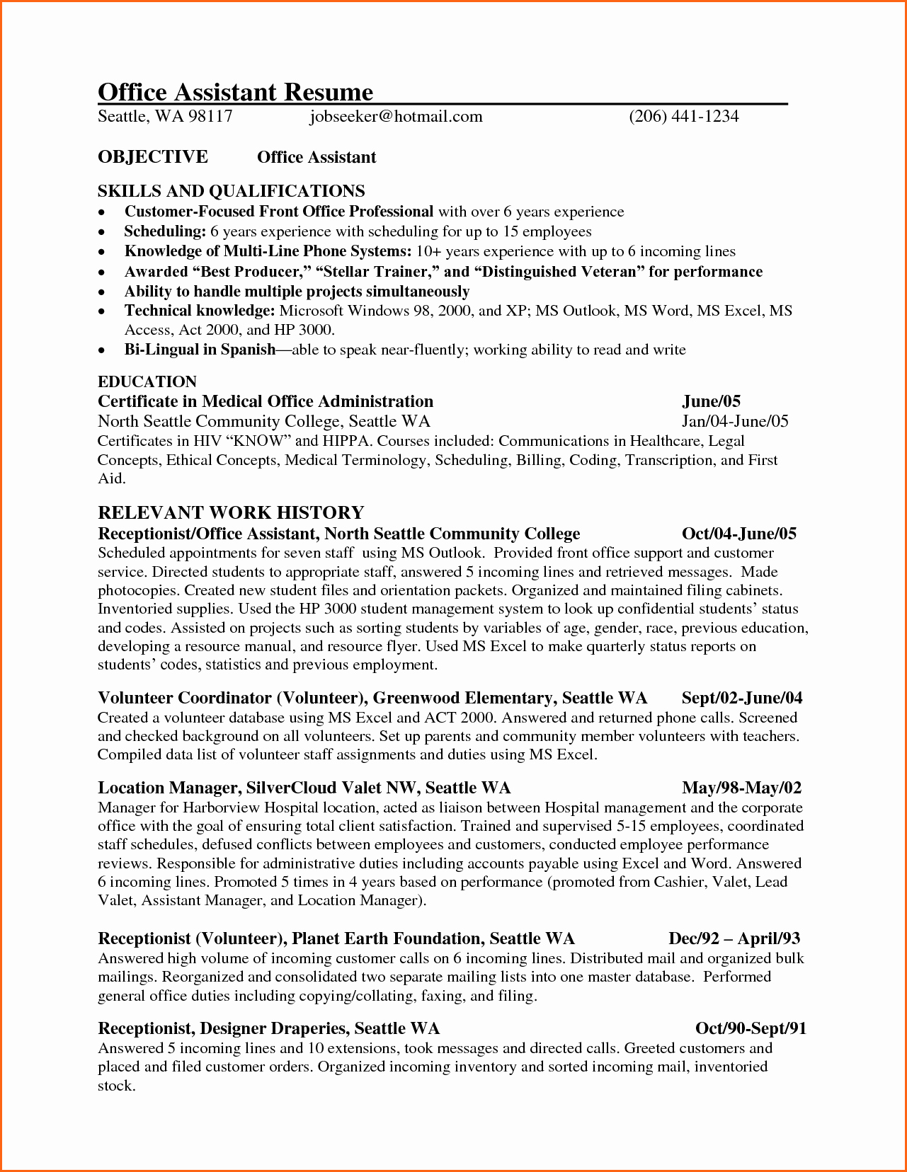 Resume Template for Office Job Awesome 6 Office Manager Sample Resume Bud Template Letter