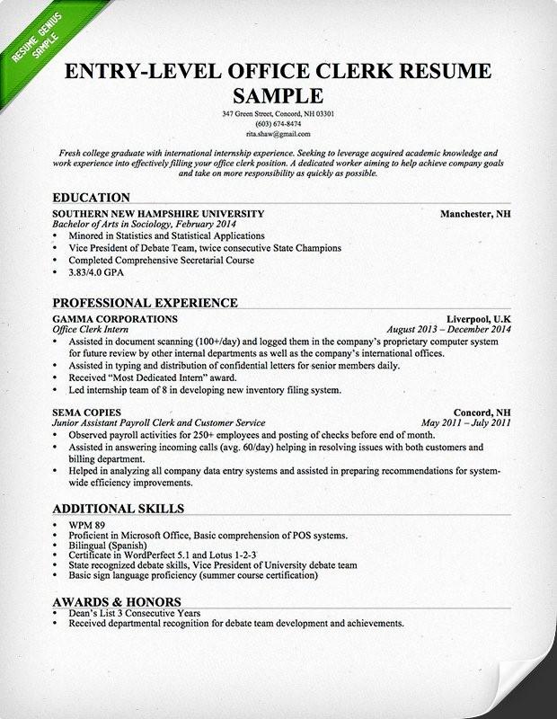 Resume Template for Office Job Fresh Fice Skills Resume
