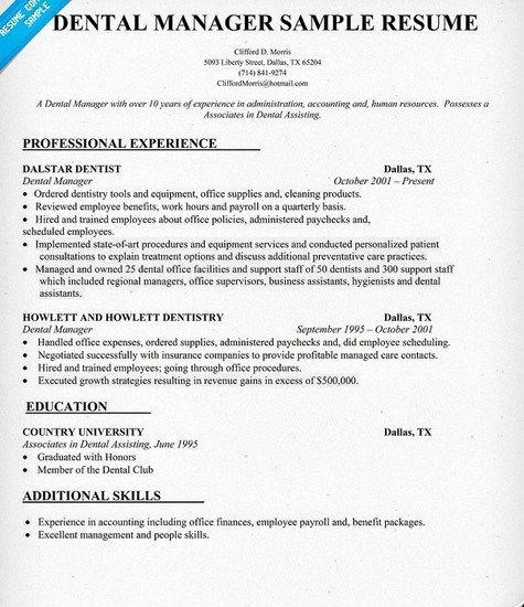 Resume Template for Office Job Inspirational Dental Fice Manager Resume Sample
