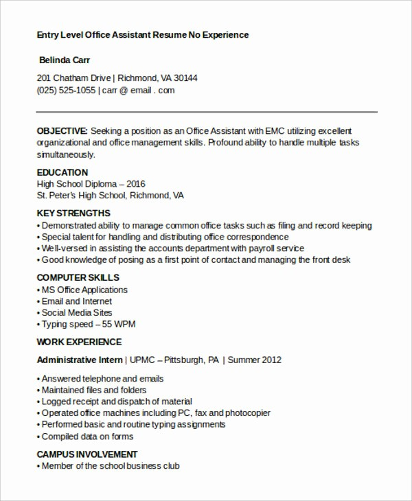 Resume Template for Office Job Lovely 15 Best Work Resume Templates Pdf Doc