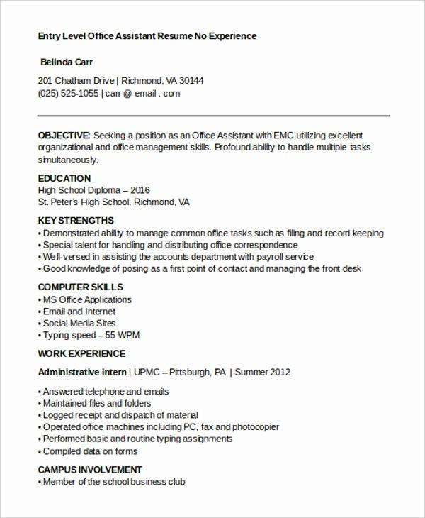 Resume Template for Office Job Lovely 15 Best Work Resume Templates Pdf Doc
