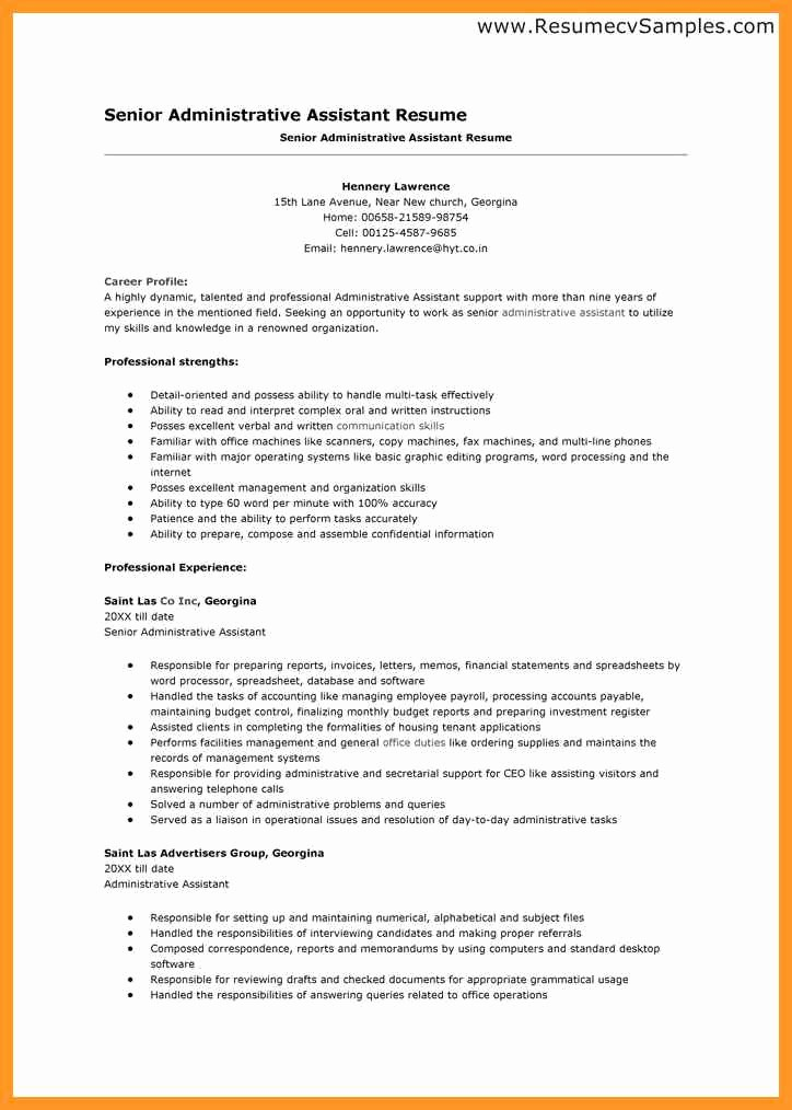 Resume Template for Office Job Lovely Office assistant Resume Description
