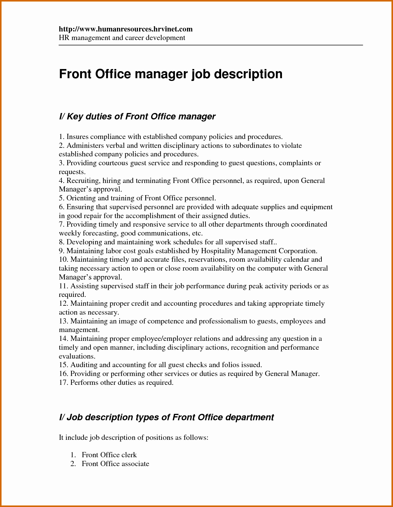Resume Template for Office Job Unique 10 How to Write Job Description On Resume