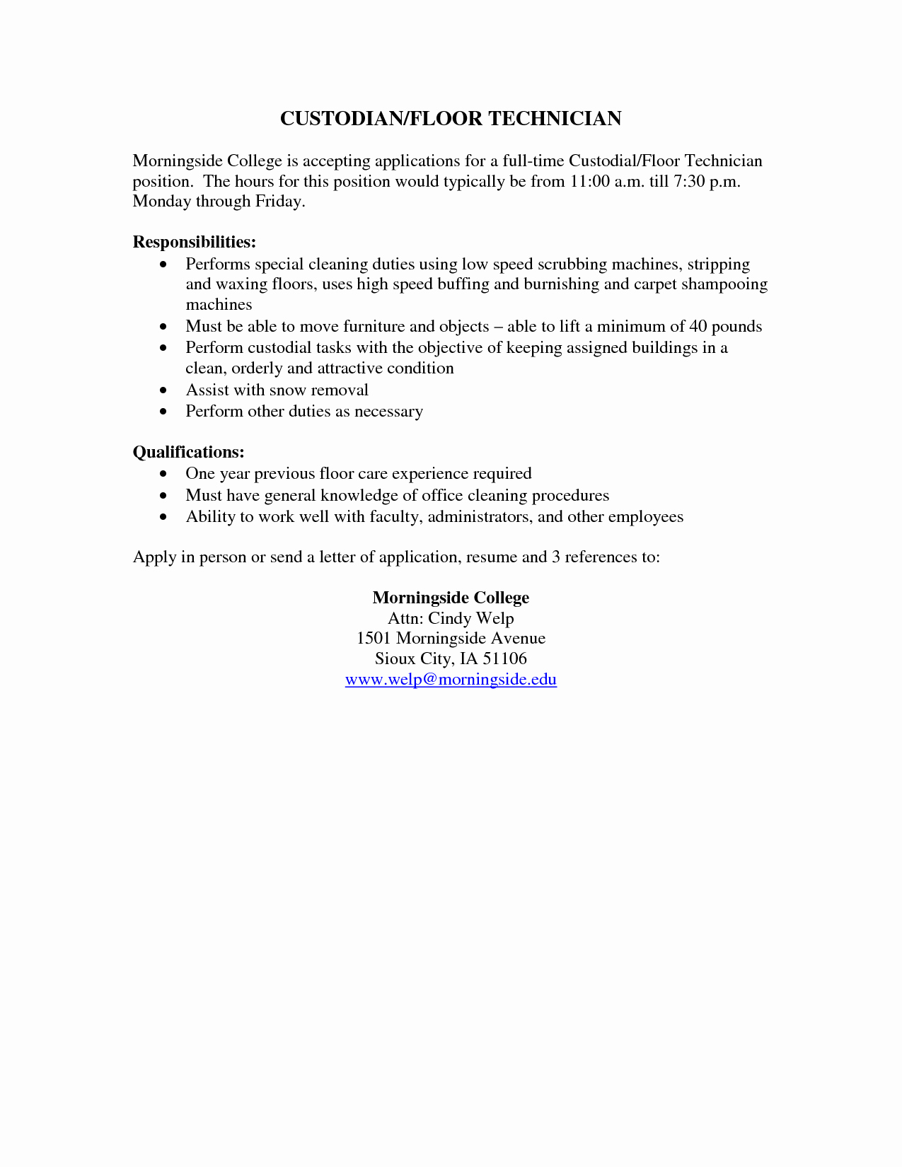 Resume Template for Office Job Unique Example Of Resume for Cleaning Job Samplebusinessresume