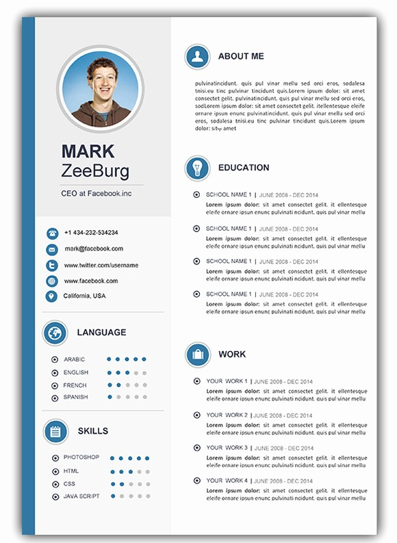 Resume Template Free Download Word Beautiful Fresh Download Cv Template Word