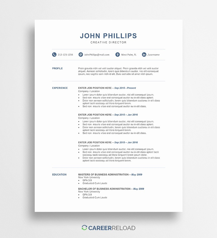 Resume Template Free Download Word Best Of Download Free Resume Templates Free Resources for Job