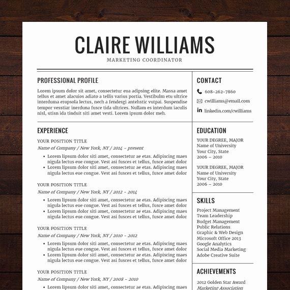 Resume Template Free Download Word Fresh 21 Best Images About Resume Design Templates Ideas ☮ On