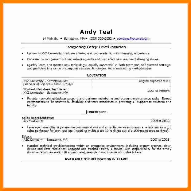 Resume Template Microsoft Word 2007 Inspirational 7 Resume Template Word 2007