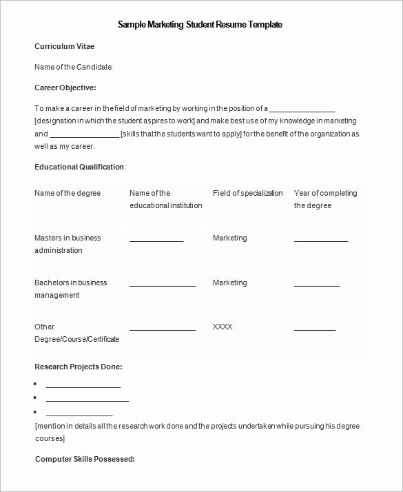 Resume Template Microsoft Word 2007 New 34 Microsoft Resume Templates Doc Pdf