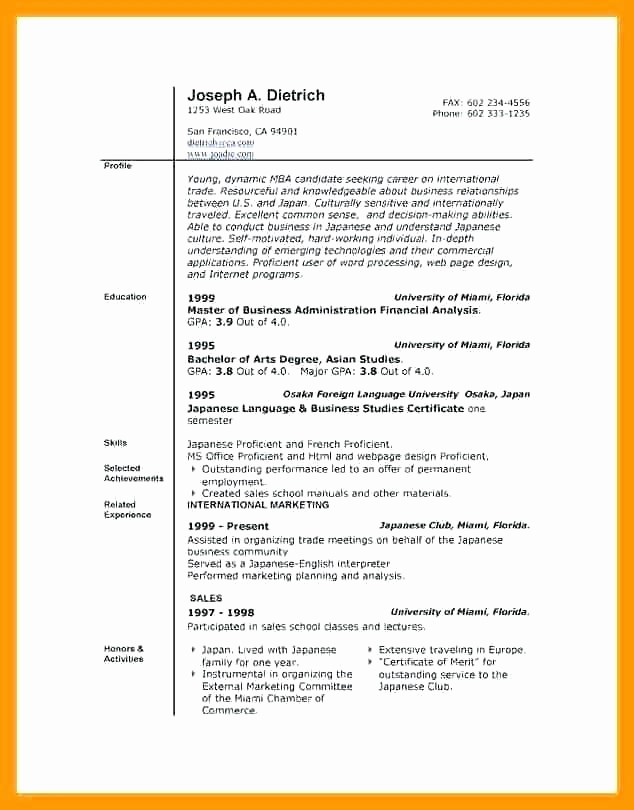 Resume Template Microsoft Word 2007 New Engineering Resume Template Microsoft Word 2007 Browse