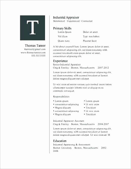 Resume Template Microsoft Word 2007 New Microsoft Word 2007 Resume Templates – Foodandme