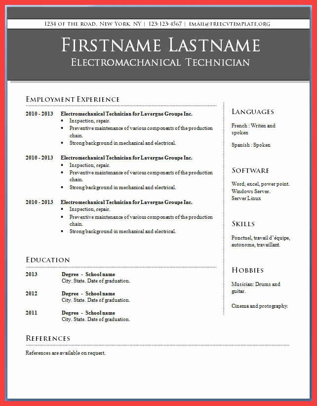 Resume Template Ms Word 2010 Awesome Resume Microsoft Word 2010