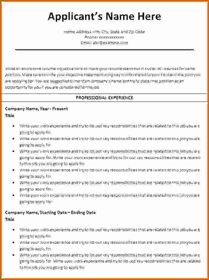Resume Template Ms Word 2010 Beautiful 6 How to Make A Resume On Word 2010