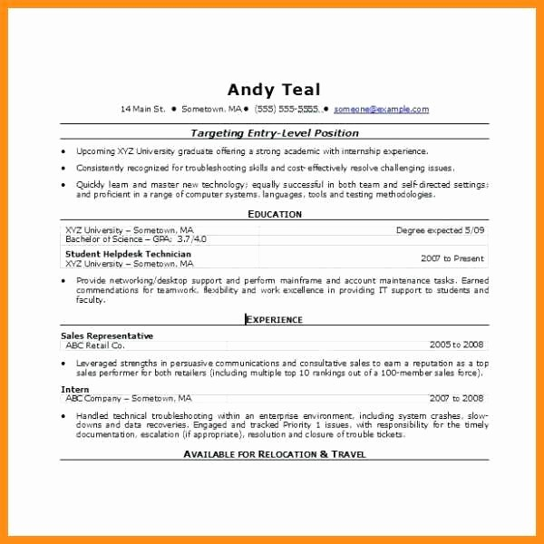 Resume Template Ms Word 2010 Fresh 6 Resume Templates for Microsoft Word 2010