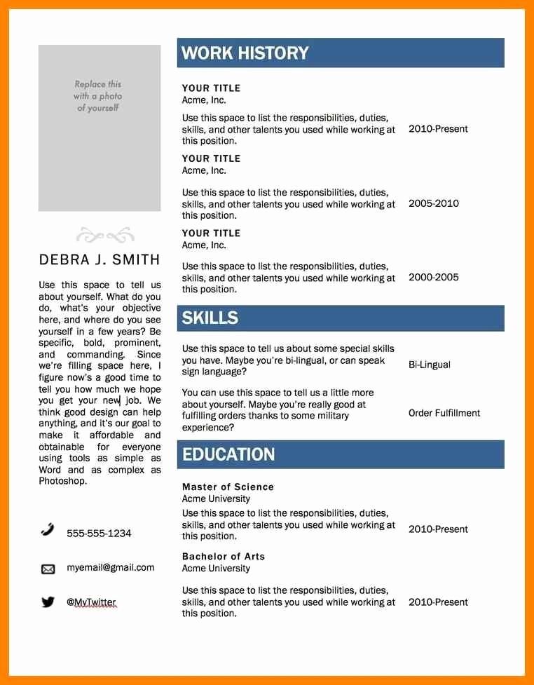 Resume Template Ms Word 2010 Luxury Resume Template Microsoft Word 2010