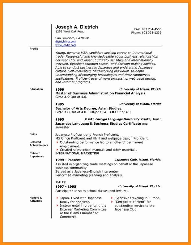 Resume Template Ms Word 2010 New 6 Resume Templates for Microsoft Word 2010
