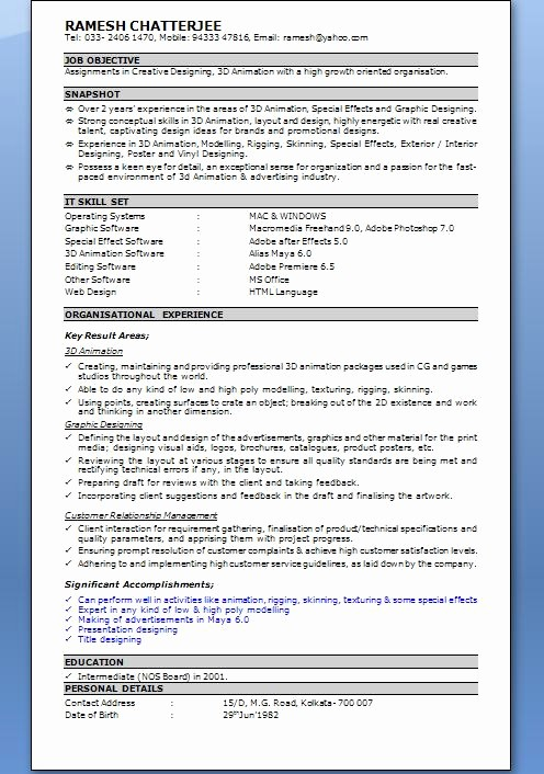 Resume Template Ms Word 2010 Unique Microsoft Word for Resume