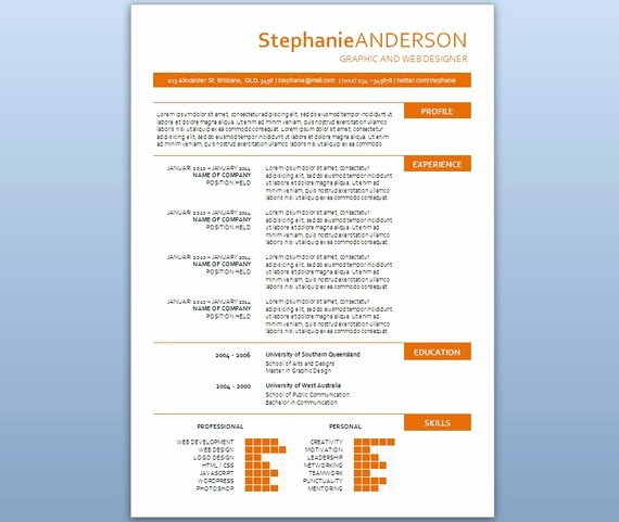 Resume Template On Microsoft Word Awesome Modern Microsoft Word Resume Template Stephanie by Inkpower