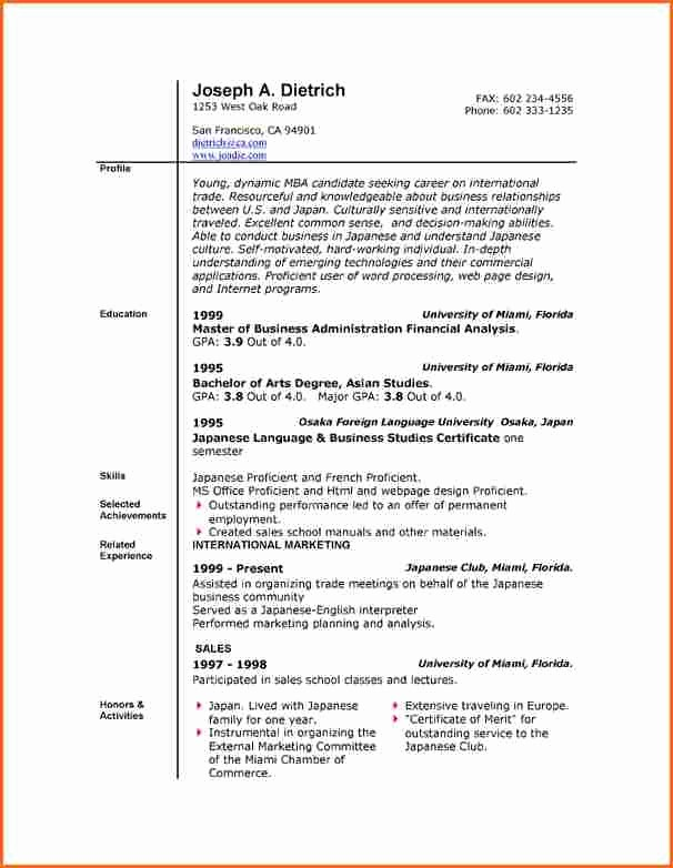 Resume Template On Microsoft Word Fresh 6 Free Resume Templates Microsoft Word 2007 Bud