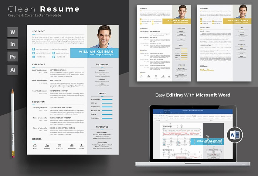 Resume Template On Microsoft Word New 25 Professional Ms Word Resume Templates with Simple