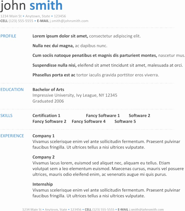 Resume Template On Word 2007 Lovely 20 Microsoft Resume Templates Free Download
