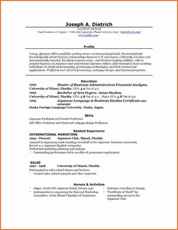 Resume Template On Word 2007 New 6 Free Resume Templates Microsoft Word 2007 Bud