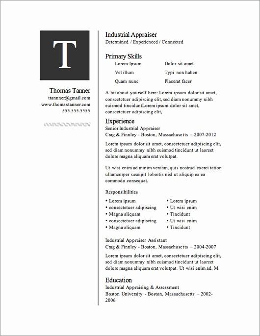Resume Templates Download Microsoft Word Fresh 12 Resume Templates for Microsoft Word Free Download