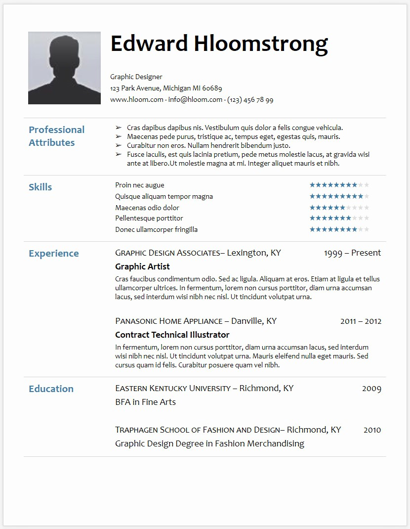 Resume Templates for Word Free Awesome 12 Free Minimalist Professional Microsoft Docx and Google