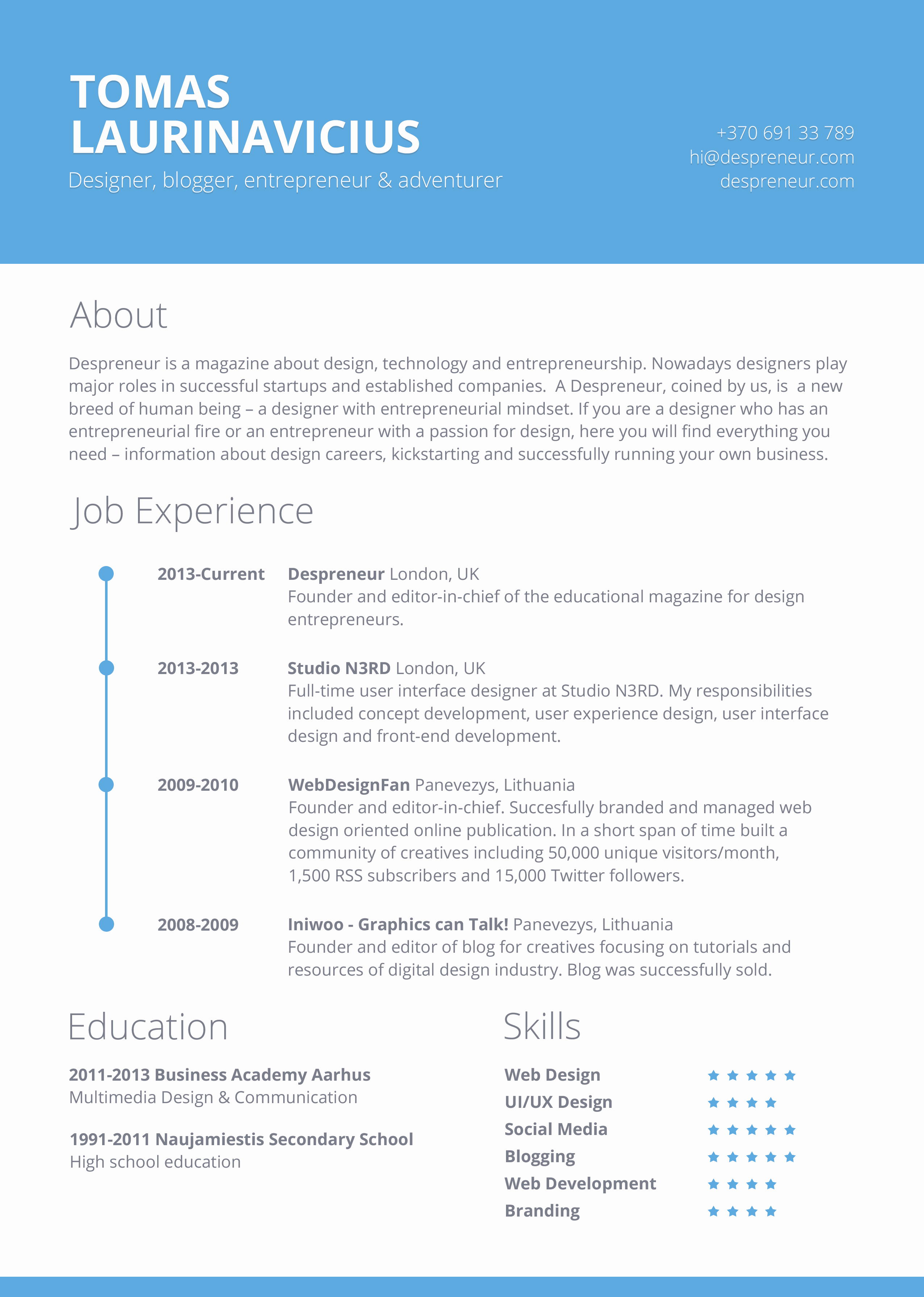 Resume Templates for Word Free Awesome 40 Resume Template Designs