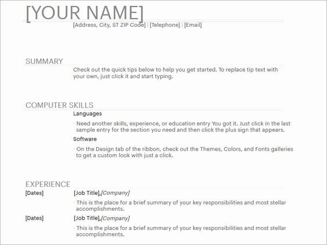 Resume Templates for Word Free Beautiful 20 Free Resume Templates for Word that Ll Help You Land A Job