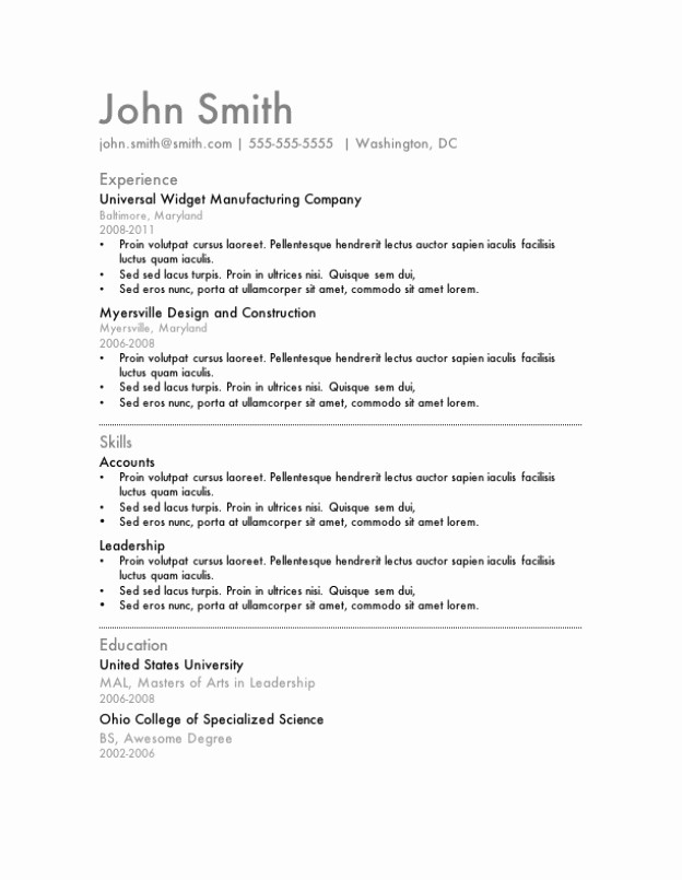 Resume Templates for Word Free Beautiful Latest Free Resume Template Microsoft