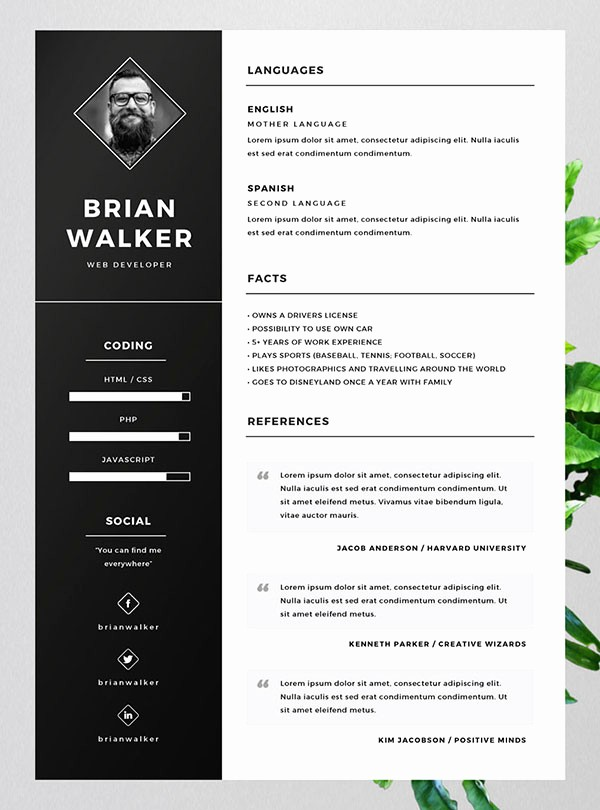 Resume Templates for Word Free Best Of 10 Best Free Resume Cv Templates In Ai Indesign Word