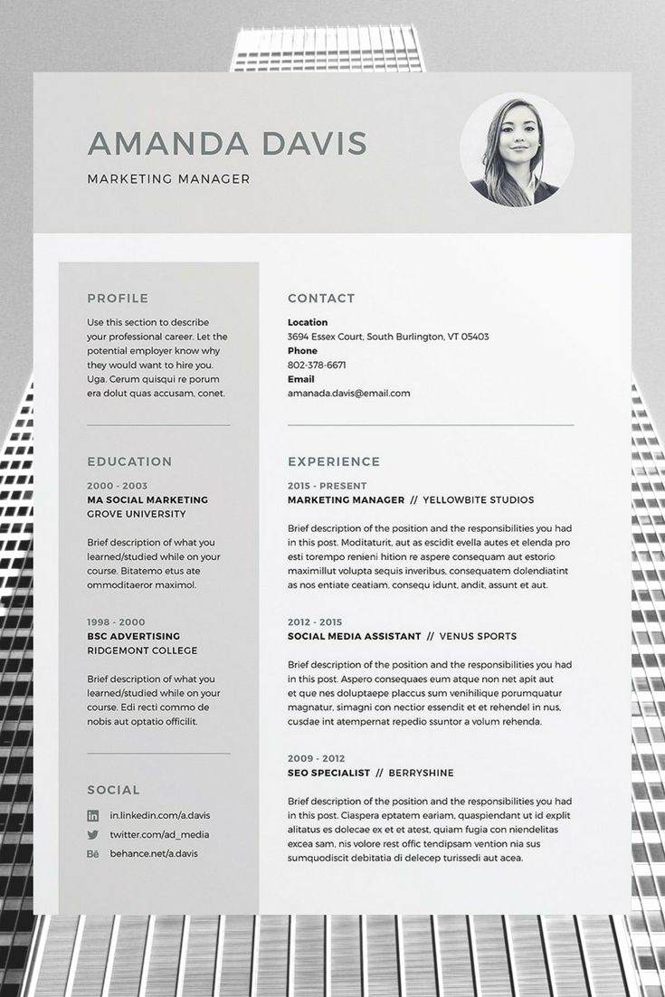 Resume Templates for Word Free Best Of Best 25 Free Cv Template Ideas On Pinterest