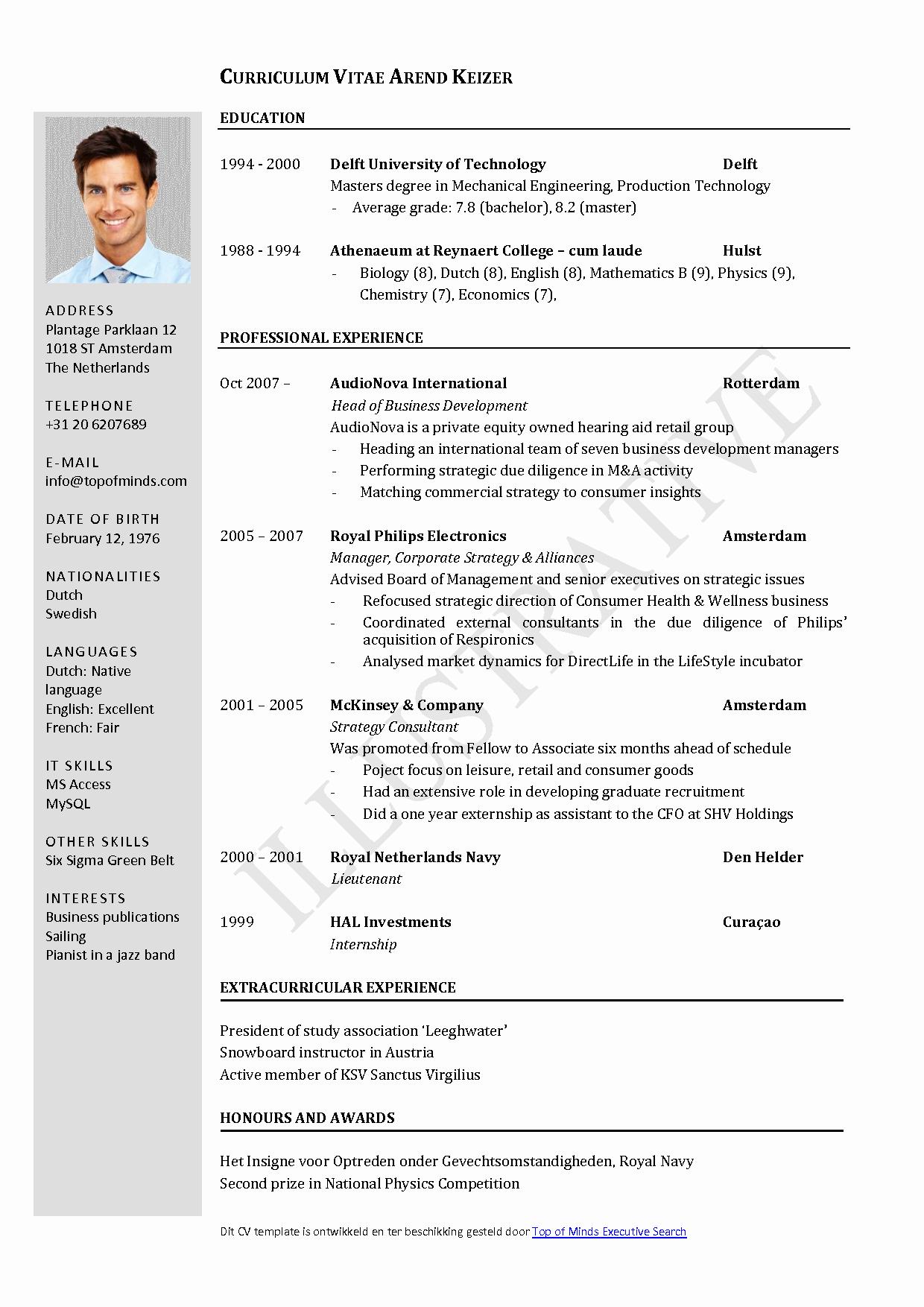 Resume Templates for Word Free Elegant Free Curriculum Vitae Template Word