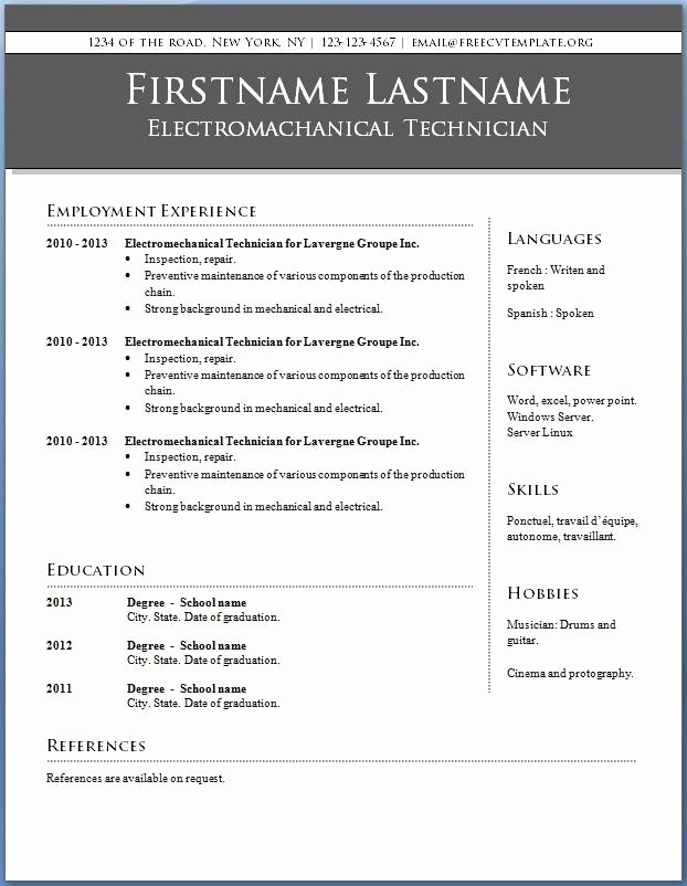 Resume Templates for Word Free Inspirational 15 Pletely Free Resume Templates Microsoft Word