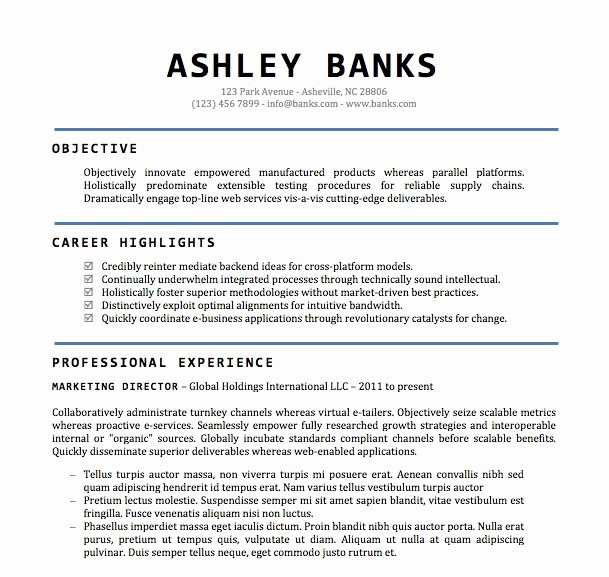 Resume Templates for Word Free Luxury Resume Templates Word Doc